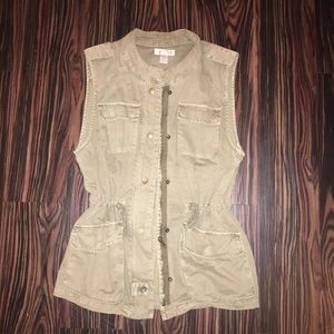 Jackets & Blazers - Military green vest